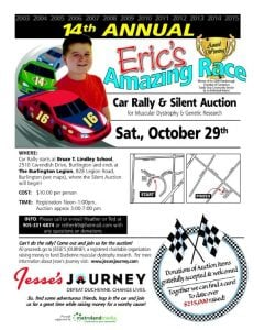 Eric's Amazing Race Car Rally and Silent Auction