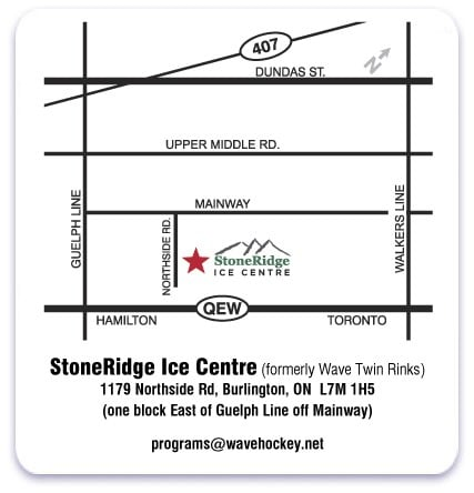 StoneRidge Ice Centre - Map
